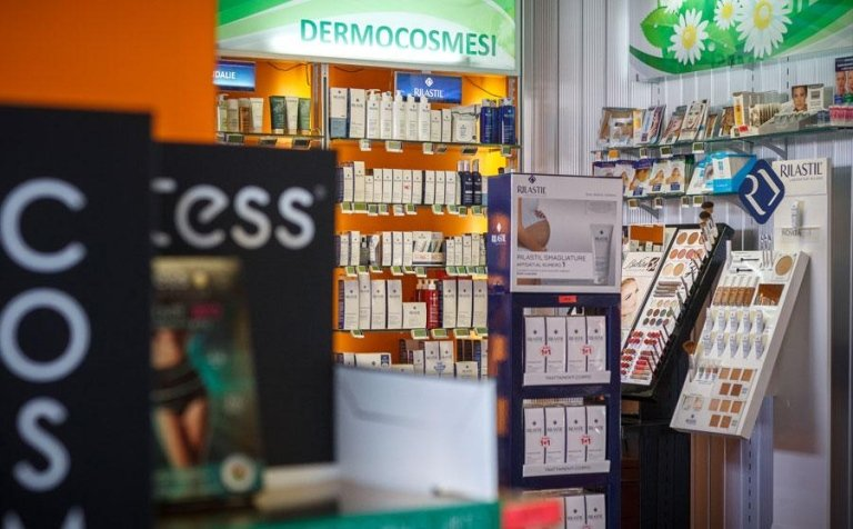 beauty products in the pharmacy