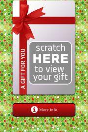 Gift scratcher digital coupon