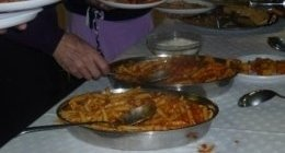 primi di tagliatelle, ravioli con carne, lasagne