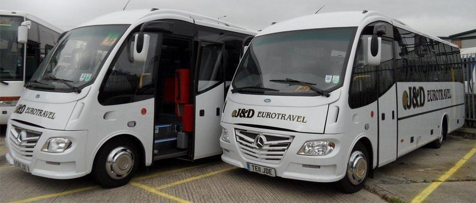 Two luxury coach