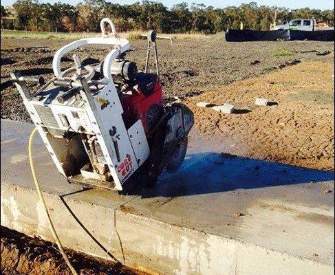 allcut concrete cutting qld pty ltd core cut white machine