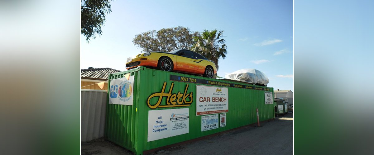 herks panel repairs container car