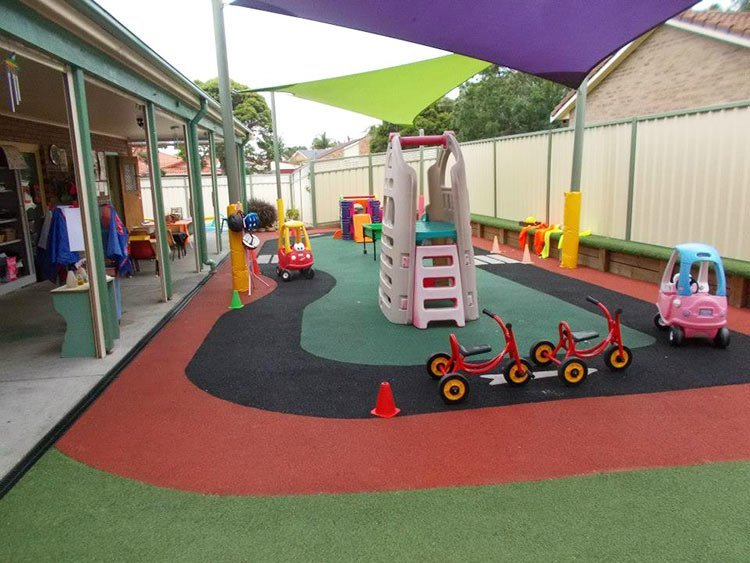 chillawong childcare centre and junior einsteins nurturing centre play area with cycle