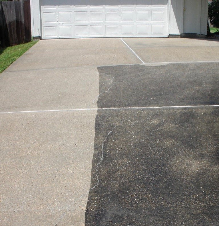 Driveway and concrete cleaning for Spray on concrete cleaner