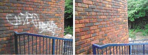 Graffiti Removal | Brick Wall