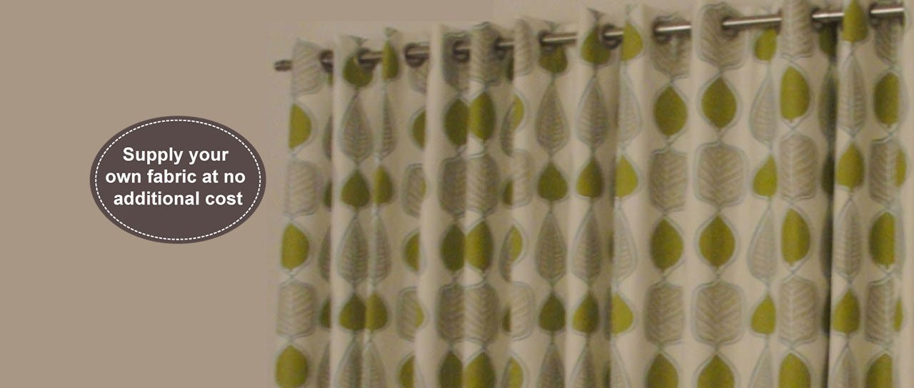 patterned leaf curtain