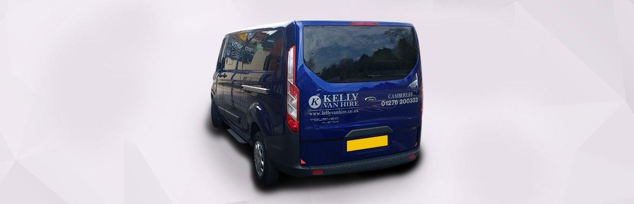 blue coloured van