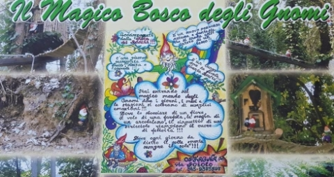 Cartello esplicativo sulla magia del Bosco di gli Gnomi