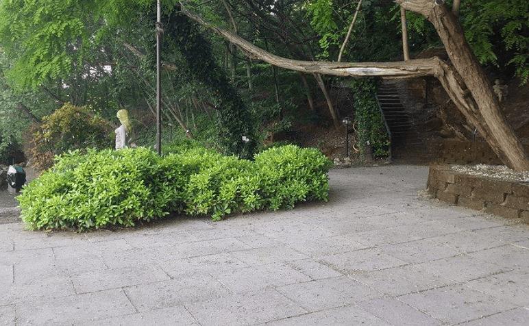 Fata nascosta tra il verde