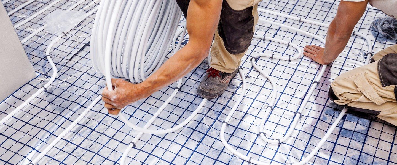 sistema di riscaldamento a pavimento di una stanza
