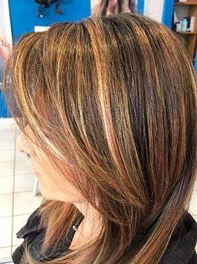 capelli con degradé biondo e rosso
