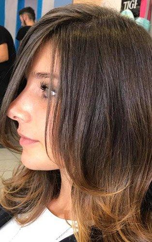 capelli castani degradé