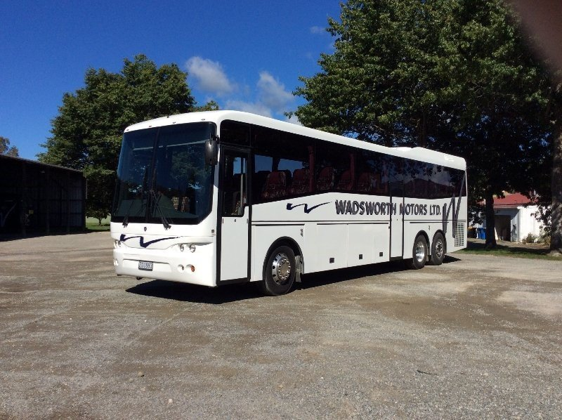 A bus from our reliable coach charter service in Nelson