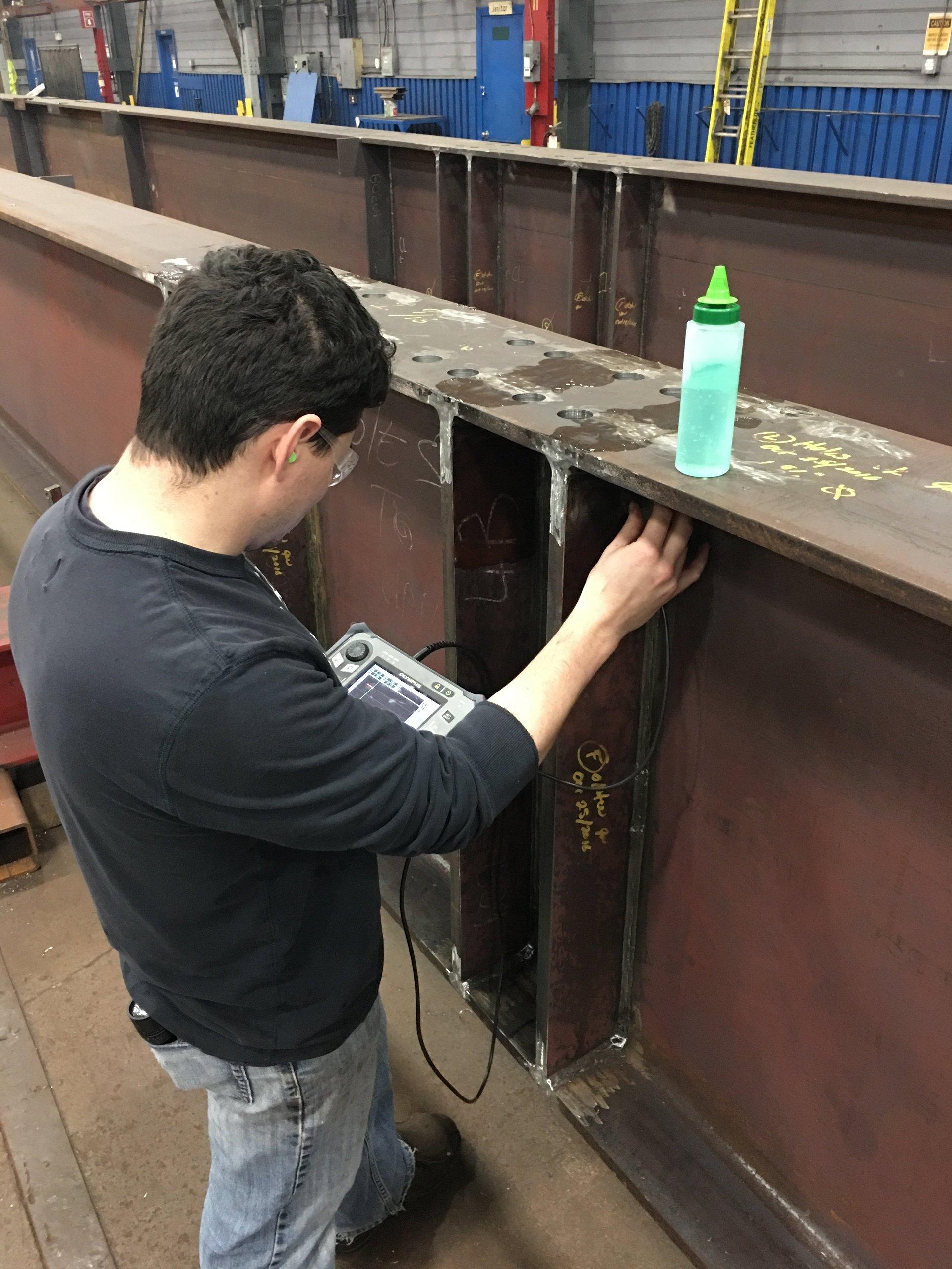 Ultrasonic straight beam inspection