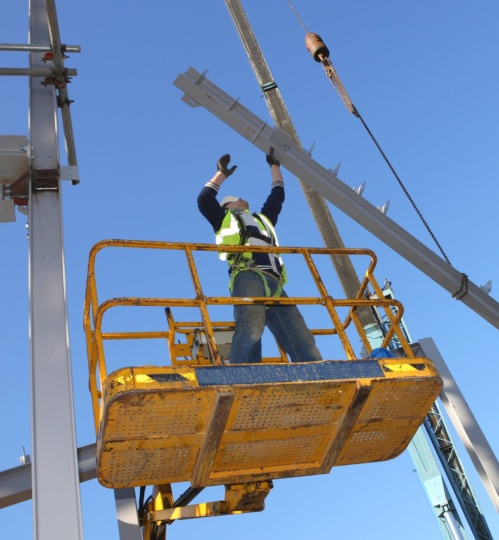 Man lift safety inspection, NDE