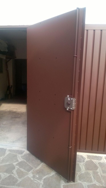 portoncino garage blindato