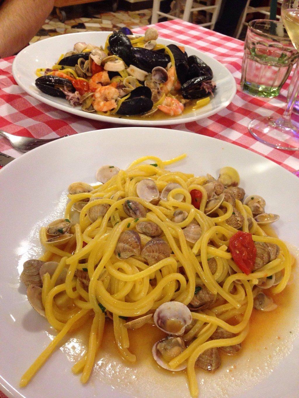 Pasta con le vongole a Rimini