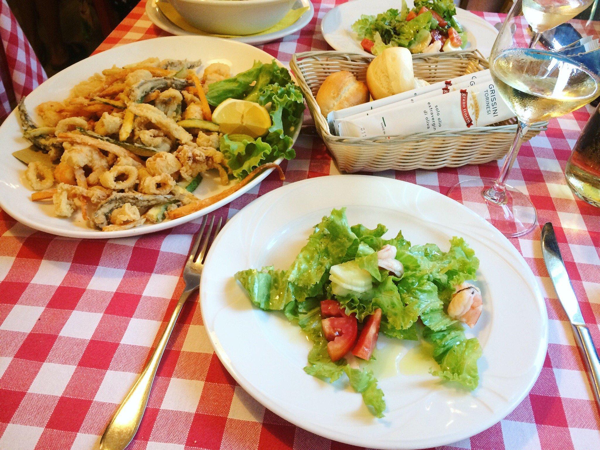 Fritto misto di mare ed insalata a Rimini