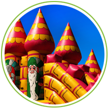 themed bouncy castle