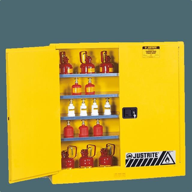 una porta gialla antincendio