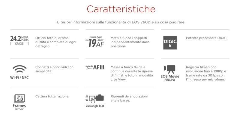 Canon Eos 760d Caratteristiche