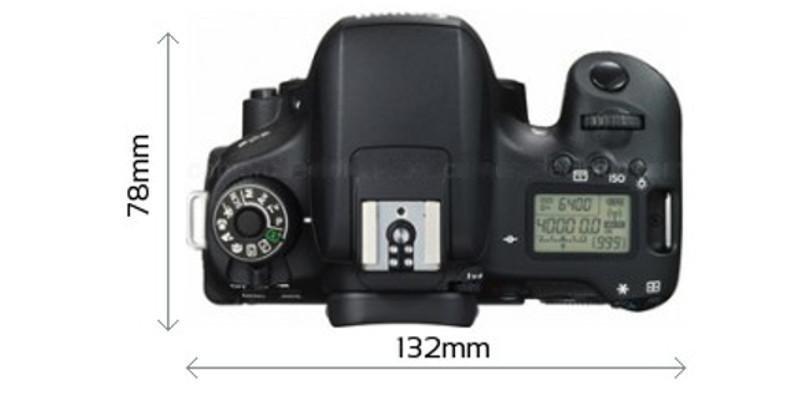 Canon Eos 760d Dimensioni