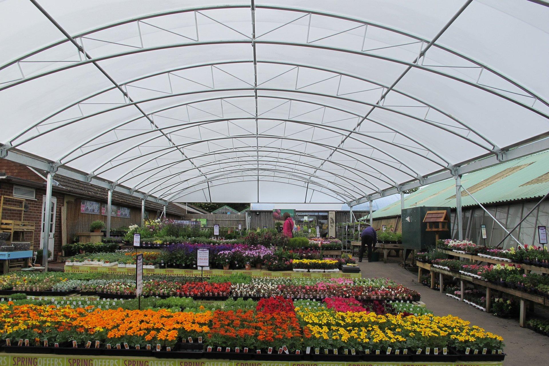 garden centre canopies