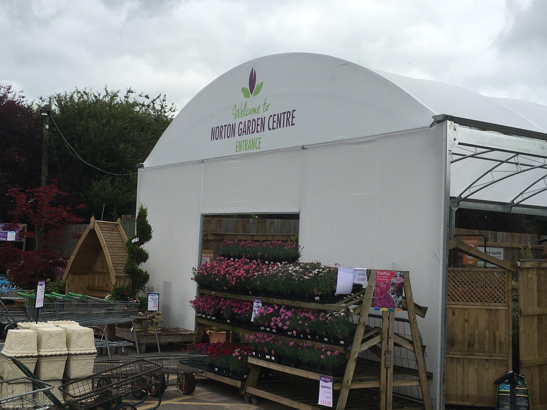 garden centre canopy