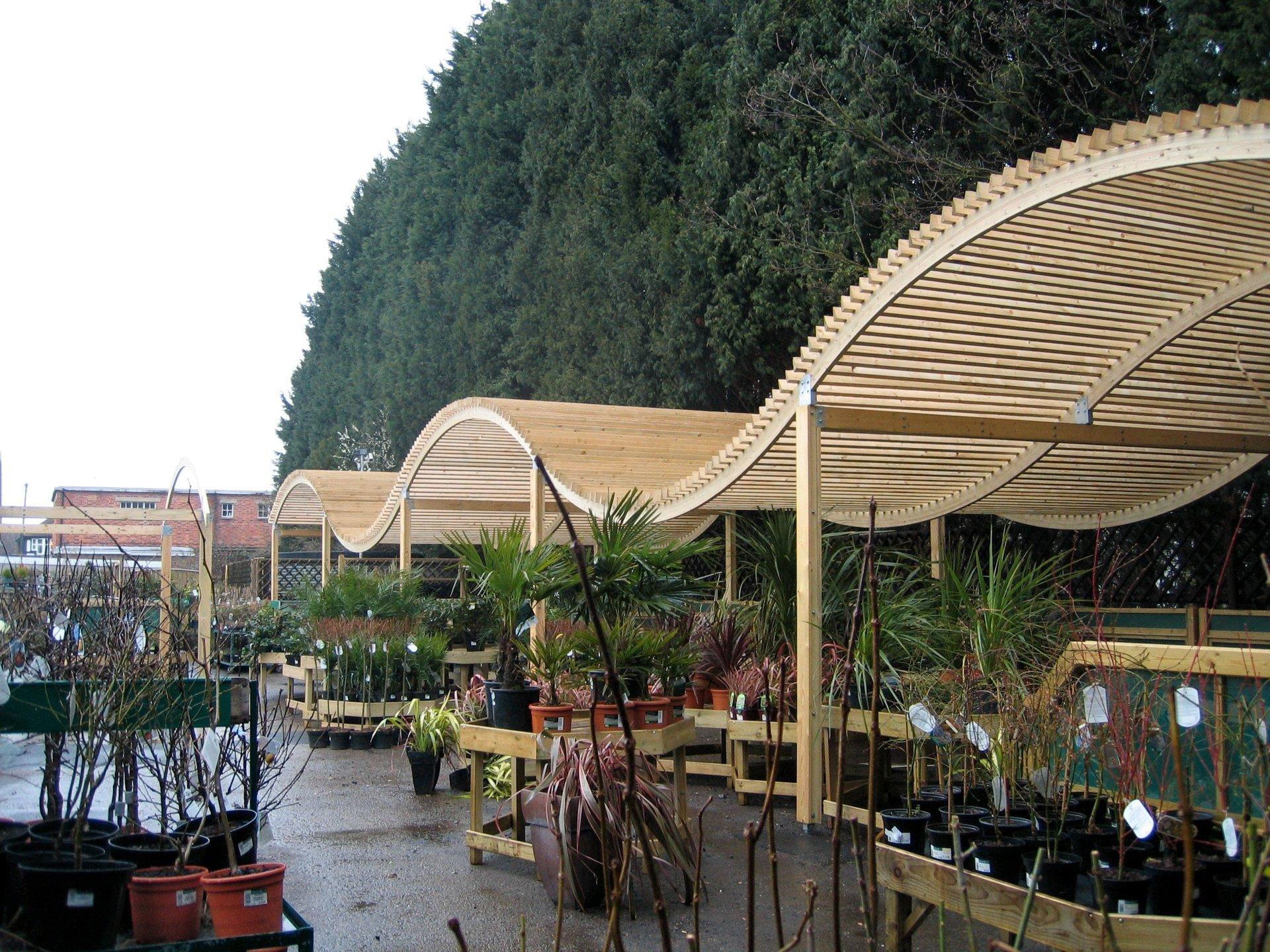 garden centre shade structure
