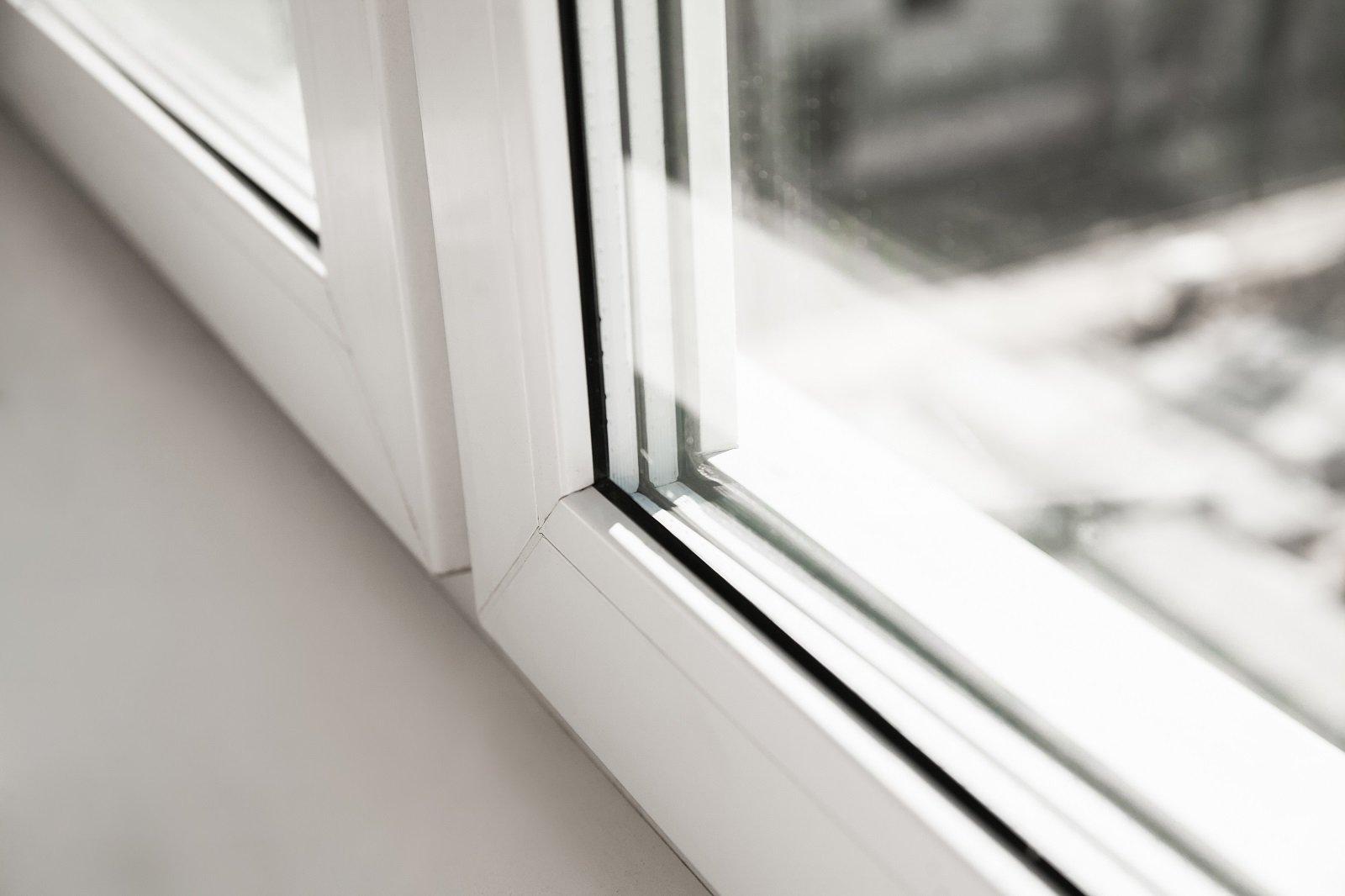 Particolare di una finestra realizzata in pvc