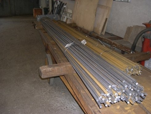ferro tagliato a misura da bobina dal ø8 al ø16