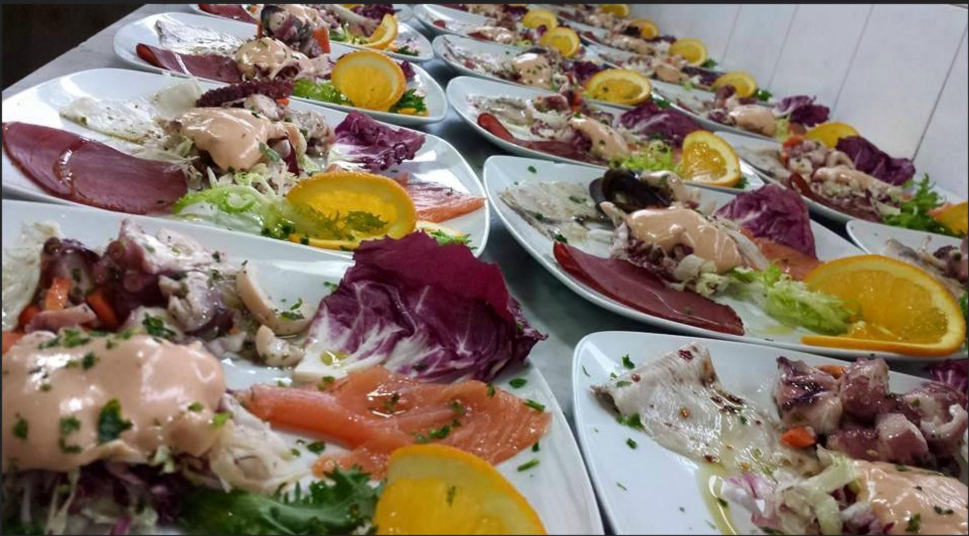 piatto a base di pesce grigliato