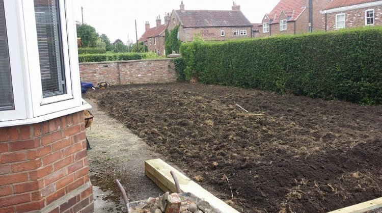 area for turfing