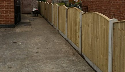 compound wooden fencing