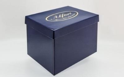 scatola con stampa
