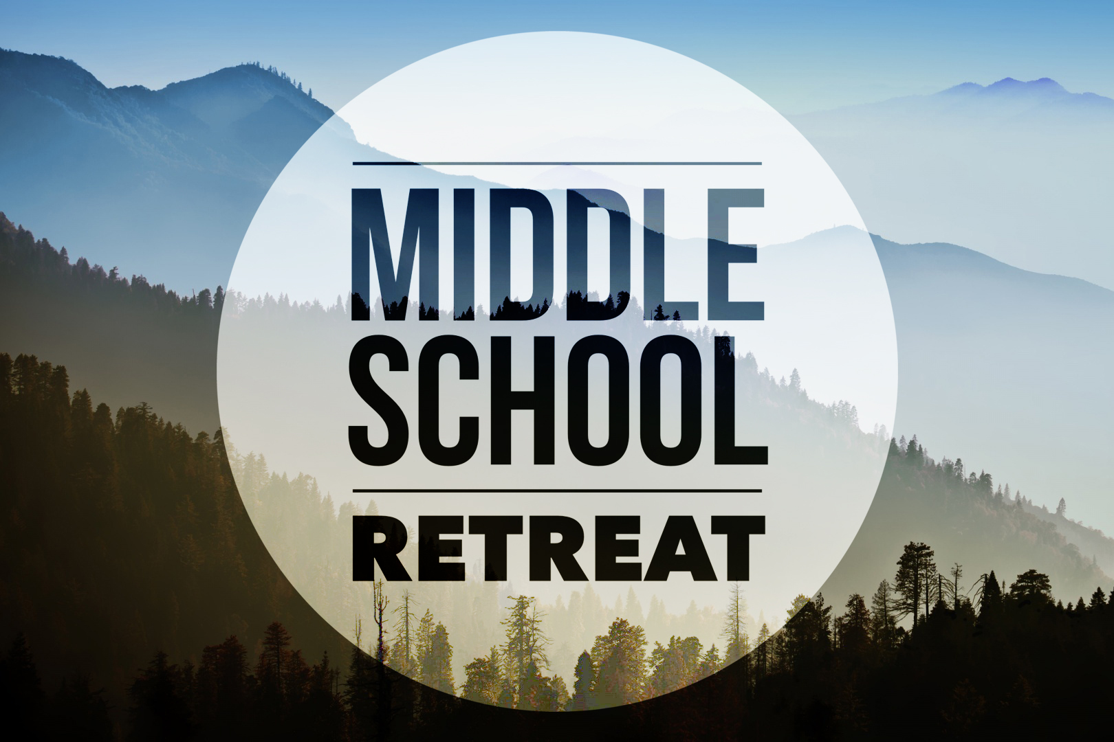 First youth middle school retreat Jan 27-29