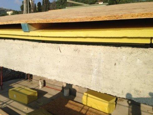 isolamento tetto in cemento armato