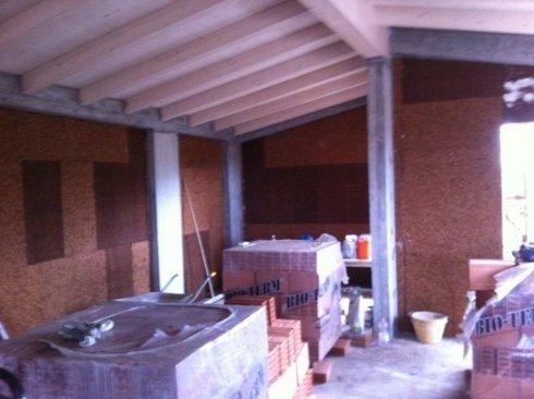 tetto in legno su struttura in cemento armato,