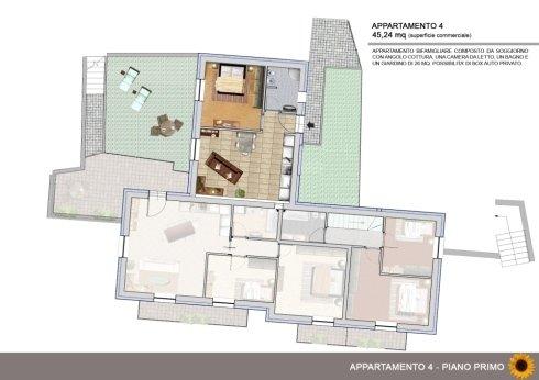 Appartamento bifamigliare con giardino di 26mq