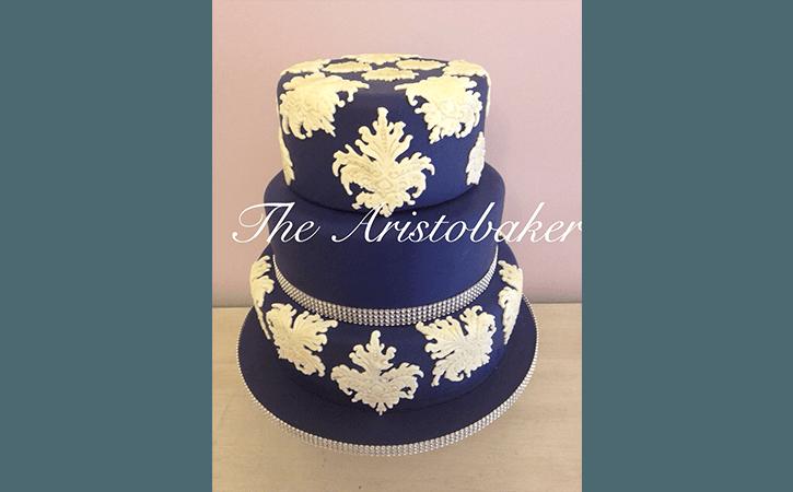 torta nuziale blu
