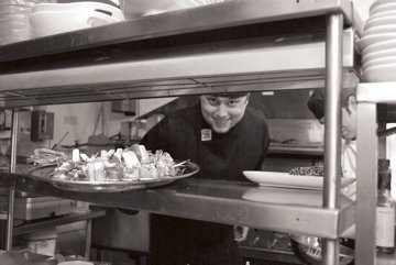 Our cook at The Commodore