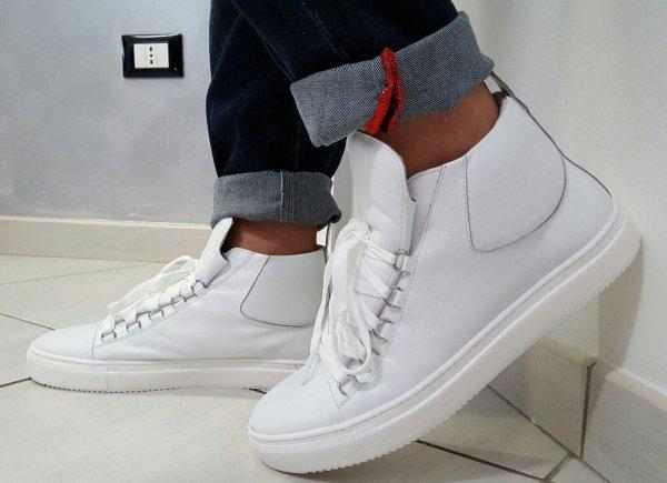 Sneakers in vera pelle