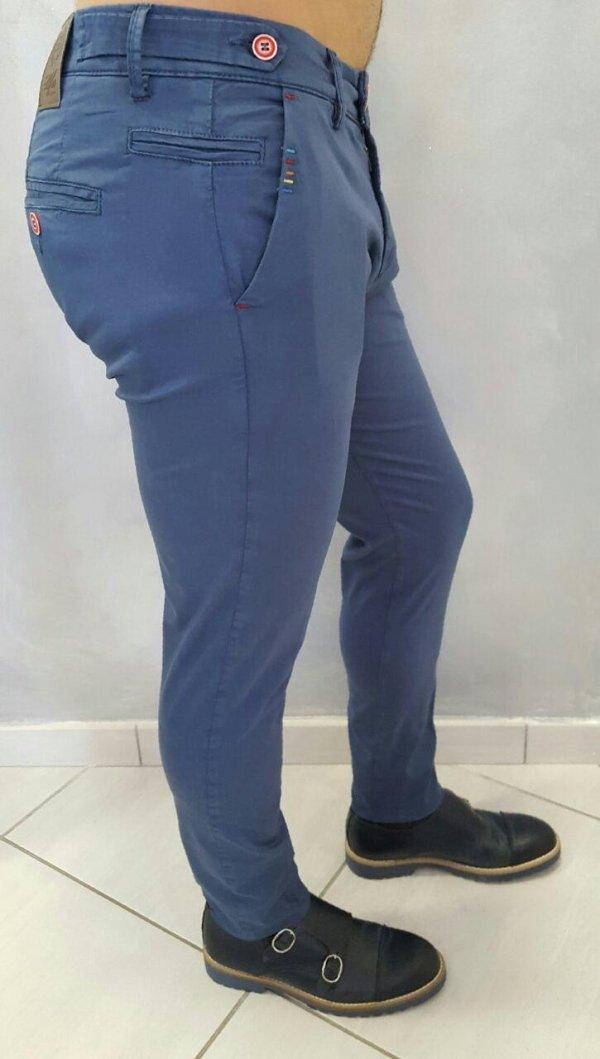 Pantalone in cotone rasato skinny elasticizzato