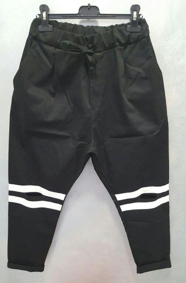 Pantaloni Slim-Elastic con taglio alle ginocchia