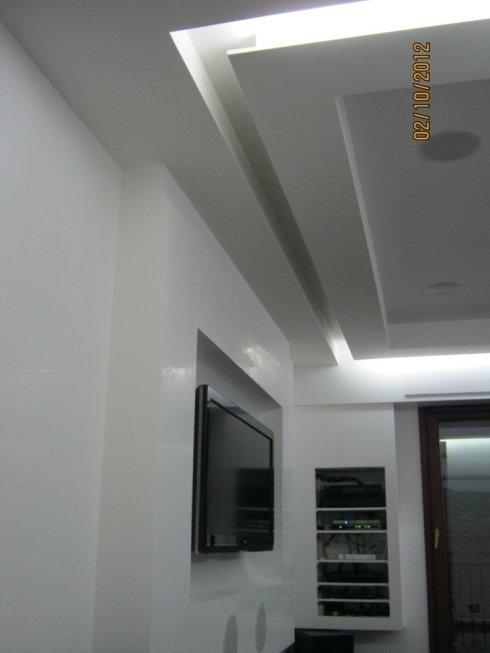controsoffitto e nicchia per impianto luci