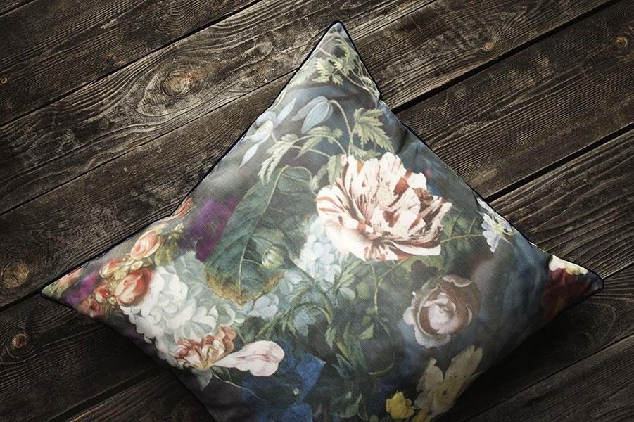 tessuto fiori cuscino