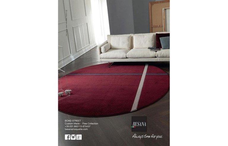 tappeto tondo rosso