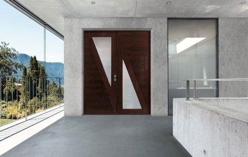portoni legno alluminio
