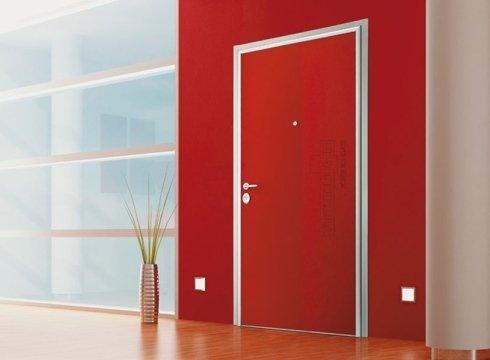 porte ingresso alluminio colorato