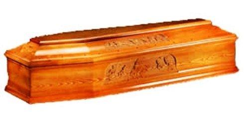 Bara in legno con bassorilievo di immagini sacre